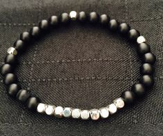 A personal favorite from my Etsy shop https://www.etsy.com/listing/266275205/boho-beaded-bracelet-black-matte-agate