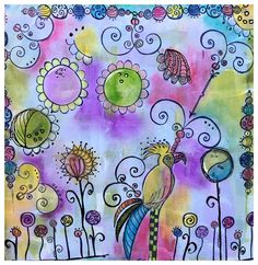 2016 Doodles of Thoughts {by Debs Wainwright} Art Journal Pages, Art Journals, Art Doodle, Ink Stamps, Art Journal Inspiration, Stencils, How To Draw Hands, Doodles, Collage