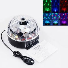 DMX512 Disco DJ Stage Party LED RGB Crystal Magic Ball Effect Rotate Light Lamp - http://musical-instruments.goshoppins.com/stage-lighting-effects/dmx512-disco-dj-stage-party-led-rgb-crystal-magic-ball-effect-rotate-light-lamp/