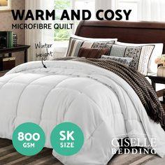 Amy Winter Quilt - Online Only - White - Matt Blatt Super King Mattress, Quilts Online, Double Quilt, Single Quilt, Winter Quilts, Queen Quilt, Dust Mites, Bag Storage, Duvet Covers