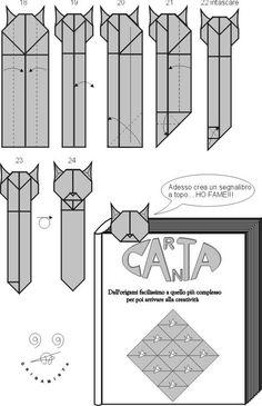 Origami Cat Bookmark Skinny