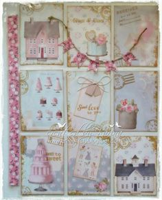 sweet idea to use washi for the binding and then a matching bunting flag across the top