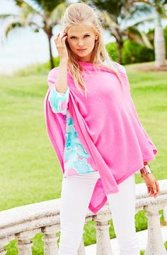 Lilly Pulitzer Harp Cashmere Wrap.