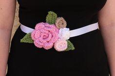 Crochet Maternity Sash  Maternity Photo Prop by alanemarie on Etsy, $18.00