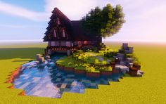 Looking for cool Minecraft house ideas? Come here, I will show you the best Minecraft house designs of 2020 to make you inspired. Minecraft Farm, Minecraft Cottage, Cute Minecraft Houses, Minecraft Plans, Minecraft Survival, Minecraft Construction, Amazing Minecraft, Minecraft Tutorial, Minecraft Blueprints