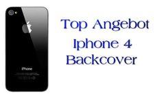 Akkudeckel Backcover für iPhone 4 schwarz