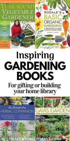 These inspiring garden books will be welcome gifts or additions to your home gardening library. Recommendations for gardening books for beginners, garden nerds, permaculture fans, and kids. #gardenbooks #gardeningbooks #gardenhacks #gardentips #giftideas Gardening Books, Gardening Tips, Vegetable Garden, Garden Plants, Perennial Vegetables, Square Foot Gardening, Grow Your Own Food, Growing Herbs, Companion Planting