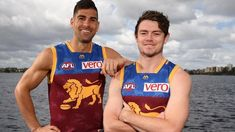 what number are new recruits wearing? Lachie Neale takes Dayne Beams Brisbane Lions North Melbourne Polec Tyson Hall Pittard Brisbane, Melbourne, Lions, Beams, Tank Man, Number, Sports, Mens Tops, How To Wear