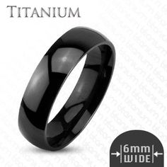 Black Tradition - Titanium Made Simple Yet Classy Black Stylish Wedding Band. #BuyBlueSteel #MensWeddingRings