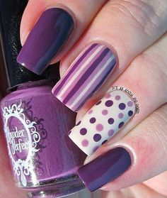 Uñas pop nails en 2019 nails, purple nail art y nail art designs. Great Nails, Cute Nail Art, Beautiful Nail Art, Cute Nails, Perfect Nails, Beautiful Images, Fancy Nails, Trendy Nails, Diy Nails