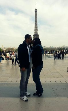 Van Vicker and wife celebrate their matrimony with a kiss during their vacation to the city of love (aka city of lights). Read more about their family vacation here: http://www.nigeriamovienetwork.com/articles/read-ghanaian-actor-van-vicker-shares-photos-from-3-weeks-vacation-with-family_583.html