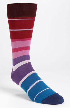 BUGATCHI Stripe Socks | Nordstrom. I really like how the stripes are different sizes.