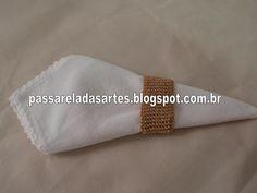 Artes na Passarela: Anel dourado para guardanapo