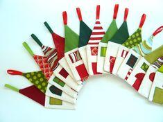 Advent calendar Little Village - Christmas decoration, fabric advent calendar