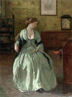 Carl Theodor von Blaas (1886-1960) - Sitzende junge Dame im Schlaf