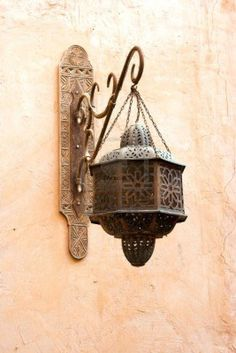 Old classical Arab wall lamp