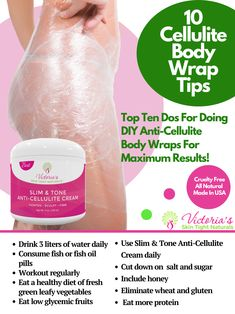Are you wondering to do DIY anti-cellulite body wraps for losing fat? It's easier than ever especially when you can purchase a professional grade product with over 23 scientifically proven natural and organic ingredients at start your own DIY treatment in Cellulite Cream, Anti Cellulite, Skin Tightening Lotion, Belly Skin Tightening, Diy Body Wrap, Tighten Loose Skin, Cellulite Remedies, Lose Inches