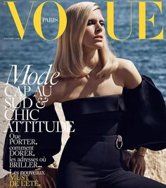 Iselin Steiro by Mikael Jansson on the cover of Vogue Paris June/July 2016