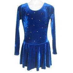 $53 prime Amazon.com: Demi Skate Long Sleeve Velvet Figure Skating Dress with Rhinestone SD001: Clothing