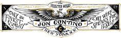 Enviable hand-lettering from Jon Contino, Alphastructaesthetitologist @joncontino http://www.joncontino.com