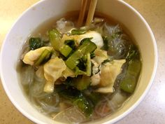 Soup with kim chee
