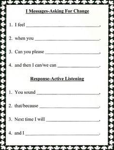 active listening skills worksheets
