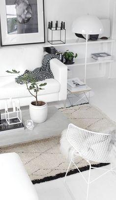 scandinavian living room design idea