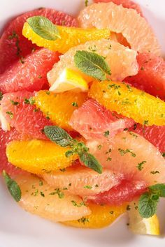 Weight Watchers Citrus Salad with Mint Recipe - 2 WW Points - Fat Free, Paleo, Gluten Free, and Vegan