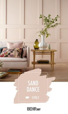 Sand Dance Behr Paint Colors Sand Dance Behr Paint Colors Iris Danhuber idanhuber Farbkonzepte If your interior design style is glam and glitzy then nbsp hellip Room colors warm Pink Paint Colors, Behr Paint Colors, Bedroom Paint Colors, Paint Colors For Living Room, Paint Colors For Home, House Colors, Blush Pink Paint, Sand Color Paint, Pink Bathroom Paint