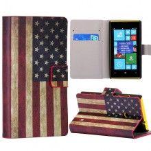 Funda Lumia 520 - Flip Libro Bandera USA  $ 75,81