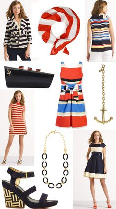 Sail Away with these nautical looks from Kate Spade!
