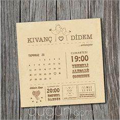Adam & Avva - İstanbul Düğün Davetiyesi Save The Date, Wedding Invitations, 15 Anos, Centerpieces, Mesas, Invitations, Games, Masquerade Wedding Invitations, Bridal Invitations