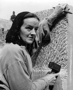Barbara Hepworth, early 1950s. Dame Barbara Hepworth DBE (10 January 1903 – 20 May 1975) was an English sculptor. Her work exemplifies Modernism, and with such contemporaries as Ivon Hitchens, Henry Moore, Ben Nicholson, Naum Gabo she helped to develop modern art (sculpture in particular) in Britain. See also http://www.guardian.co.uk/artanddesign/barbara-hepworth