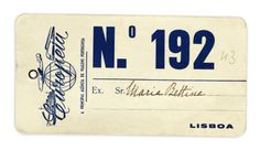 Luggage label from Europeia - the main Portuguese travel agency. 1940s.
