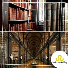 Para os amantes da literatura e história, a biblioteca da Universidade de Trinity, em Dublin, na Irlanda, é destino certo! Com mais de 200 mil livros, muitos adquiridos em 1801, lá está uma das poucas cópias existentes da Proclamação da República Irlandesa de 1916 e o Livro de Kells – um dos manuscritos mais famosos e valiosos do mundo, escrito por monges há mais de 1.200 anos! #Dica #Viagem #Literatura #Biblioteca #Irlanda #TudoMKT #TudoMarketing