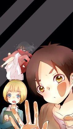 Eren - Mikasa - Armin Shingeki No Kyojin Glass: anyone's there????