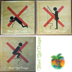 """""""Funny wooden bathroom signs...instructions on what NOT to do. Great for small boys and drunk husbands. #bathroom #boysbathroom #girlsbathroom…"""""""