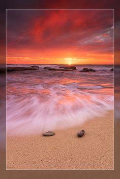 Sunset at Yambuk Beach, Victoria, Australia .... Photo by Aaron Toulim