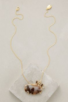 Moody Agate Necklace #anthropologie
