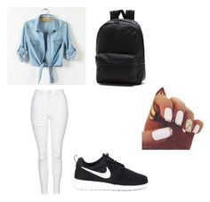 """Untitled #8"" by dorina-meszaros on Polyvore featuring Topshop, NIKE and Vans"