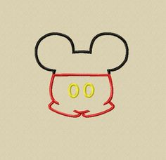 New Design   Mister Mouse Head with Shorts by glitzystitches, $3.75