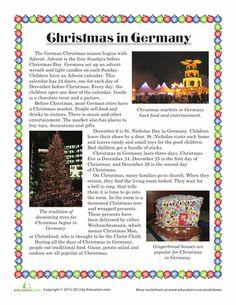 Worksheets: Christmas in Germany