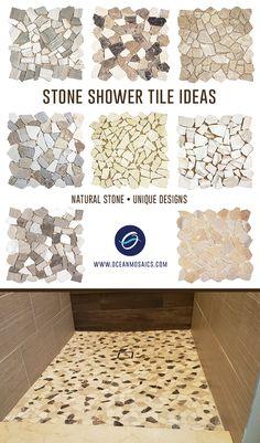 Master Bathroom Shower, Stone Bathroom, Shower Walls, Shower Floor, Stone Shower, Restroom Remodel, Shower Remodel, Joggling Board, Master Bath Remodel