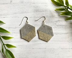 Excited to share this item from my shop: Silver Seed Bead Earrings Geometric Neutral Earrings Gray Hexagon Earrings Neutral Minimal Earrings Honeycomb Silver Gray Dangle Earrings Diy Seed Bead Earrings, Seed Bead Art, Seed Bead Jewelry, Bead Jewellery, Brick Stitch Earrings, Seed Beads, Beaded Jewelry, Beaded Necklaces, Dangle Earrings