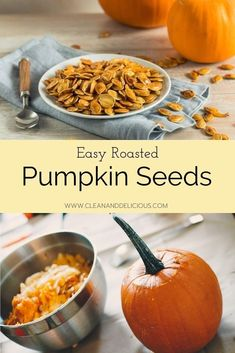These Roasted Pumpkin Seeds are a healthy snack straight out of the oven, but also delicious on top of a salad or sprinkled over some pumpkin soup. Check out this easy recipe and video to see how it's done! #pumpkinseeds #howto #kitchentips #healthysnacking Healthy Low Carb Recipes, High Protein Recipes, Healthy Sweets, Healthy Snacks, Vegetarian Recipes, Snack Recipes, Roasted Pumpkin Seeds, Roast Pumpkin, Pumpkin Soup