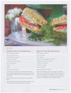 Smoked Salmon Tea Sandwiches, Egg And Cress Tea Sandwiches, Early Grey Tea-Infused Golden Raisin Scones, Lemon Verbina-Infused Pots de Creme, Tea Facts -  Edible Santa Barbara, Winter 2017