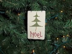 Christmas Ornament Hand Made Noel Tree Country Christmas by thefarmladyscupboard on Etsy