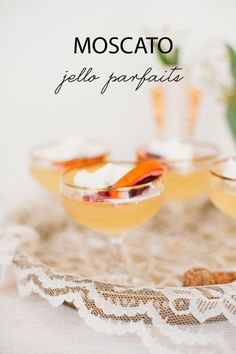 Easy and Delicious: Moscato Jello Parfaits
