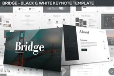Bridge - Black & White Keynote Presentation Get it now! a Simple & Clean Template for your Business presentation, suitable for anykind purpose especially for Presentation Design Template, Business Presentation, Design Templates, Business Brochure, Business Card Logo, Site Website, Script Type, Keynote Template, Proposal