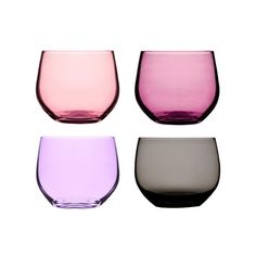 The Radia Tumblers are pretty in pink. They come in a range of tones to create a spectrum of color. These mouth-blown glasses are ideal for your dinner party, post-dinner aperitif, or any occasion wher...  Find the Radia Tumblers - Set of 4, as seen in the Berlin's Riverside Loft Collection at http://dotandbo.com/collections/berlins-riverside-loft?utm_source=pinterest&utm_medium=organic&db_sku=SAG0093